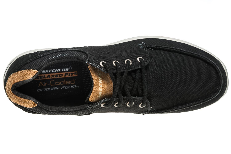 Skechers ELENT ARVEN Sneakers in Übergrößen Schwarz 65494/BLK große Herrenschuhe – Bild 7