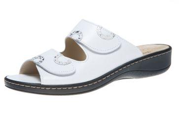 Hickersberger Vario Pantoletten in Übergrößen Weiß 5119 8101 große Damenschuhe