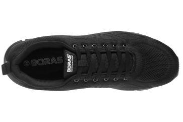 BORAS Sneaker in Übergrößen Schwarz 5203-0001 große Herrenschuhe – Bild 6