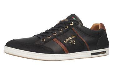 PANTOFOLA D'ORO Sneaker in Übergrößen Schwarz 10181069.25Y große Herrenschuhe – Bild 6