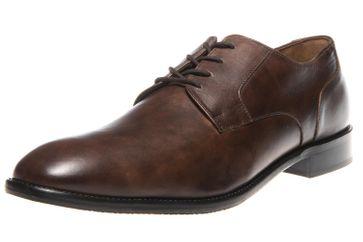 MANZ Business Schuhe in Übergrößen Braun 141022-02 große Herrenschuhe – Bild 1