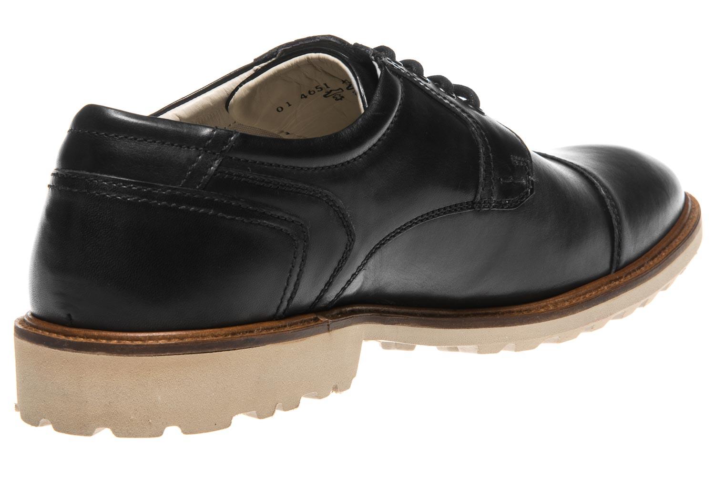 MANZ Business Schuhe in Übergrößen Schwarz 146051-03-001 große Herrenschuhe – Bild 3