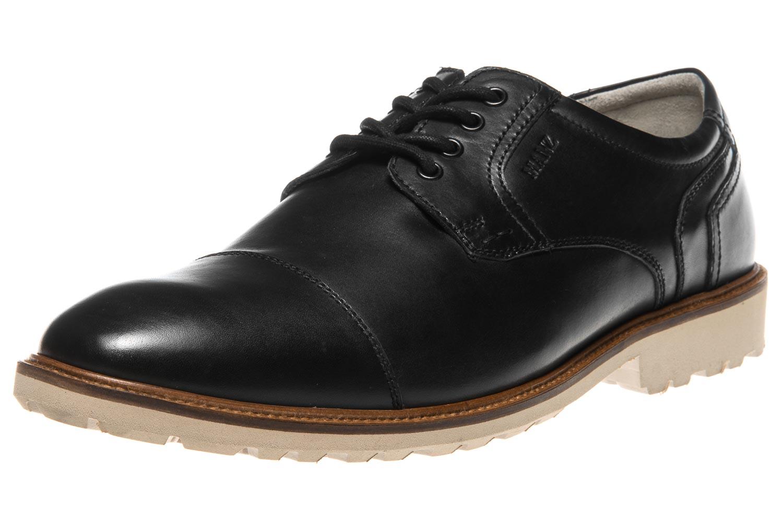 MANZ Business Schuhe in Übergrößen Schwarz 146051-03-001 große Herrenschuhe – Bild 1