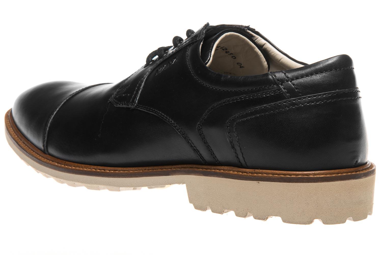 MANZ Business Schuhe in Übergrößen Schwarz 146051-03-001 große Herrenschuhe – Bild 2