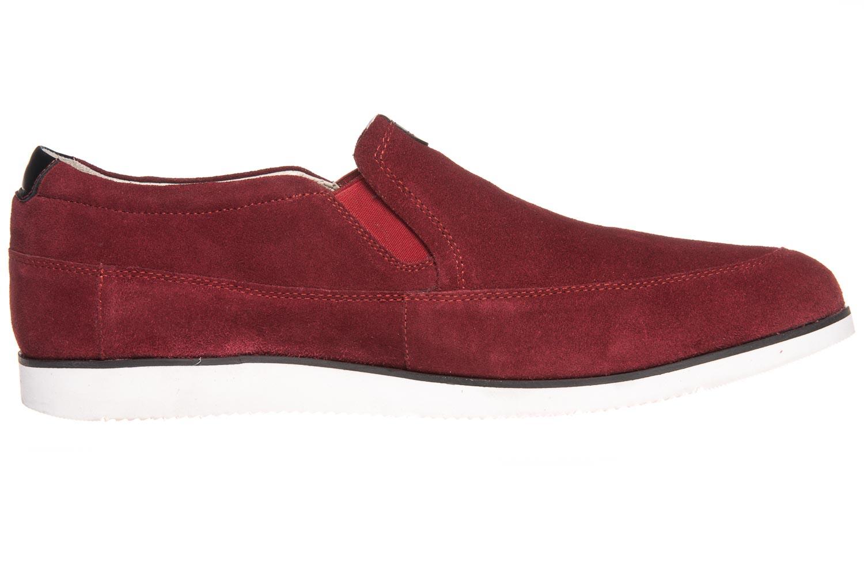 MANZ Slipper in Übergrößen Rot 104016-22-124 große Herrenschuhe – Bild 4