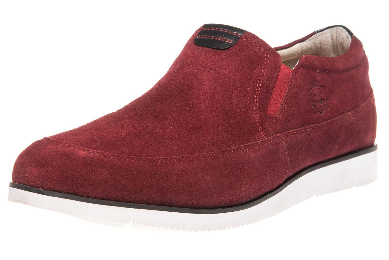MANZ Slipper in Übergrößen Rot 104016-22-124 große Herrenschuhe – Bild 1