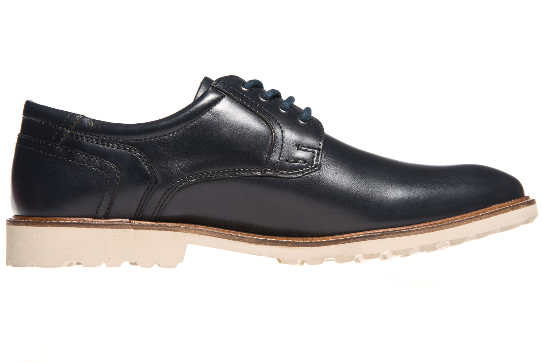 MANZ Business Schuhe in Übergrößen Blau 146050-03-047 große Herrenschuhe – Bild 4
