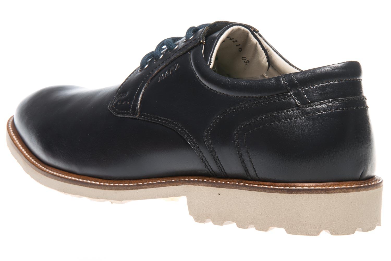 MANZ Business Schuhe in Übergrößen Blau 146050-03-047 große Herrenschuhe – Bild 2