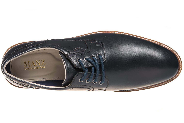 MANZ Business Schuhe in Übergrößen Blau 146050-03-047 große Herrenschuhe – Bild 7