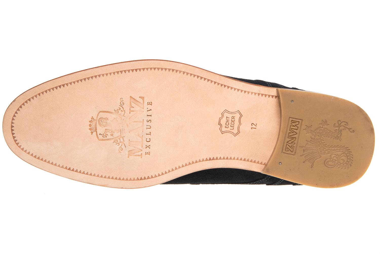 MANZ Business Schuhe in Übergrößen Blau 146068-03-041 große Herrenschuhe – Bild 6