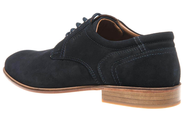 MANZ Business Schuhe in Übergrößen Blau 146068-03-041 große Herrenschuhe – Bild 2