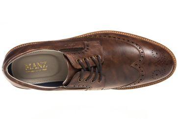 MANZ Business Schuhe in Übergrößen Braun 146056-03-191 große Herrenschuhe – Bild 7