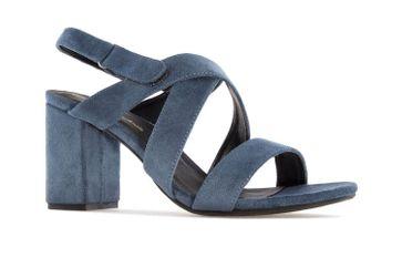 Andres Machado Sandalette in Übergrößen Blau AM5246 Ante Azul große Damenschuhe – Bild 4