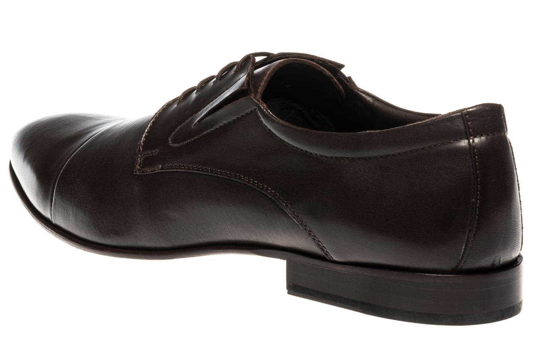 MANZ Business Schuhe in Übergrößen Braun 120051-22-187 große Herrenschuhe – Bild 2