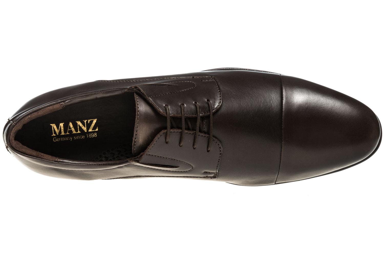 MANZ Business Schuhe in Übergrößen Braun 120051-22-187 große Herrenschuhe – Bild 7