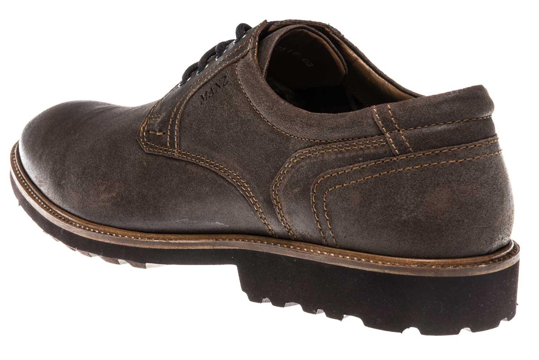 MANZ Business Schuhe in Übergrößen Braun 146064-03-187 große Herrenschuhe – Bild 2