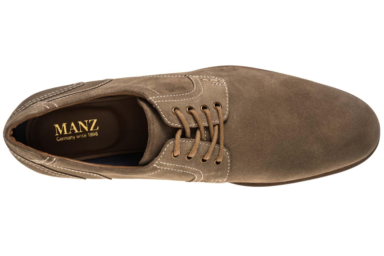 MANZ Business Schuhe in Übergrößen Grau 146068-03-023 große Herrenschuhe – Bild 7
