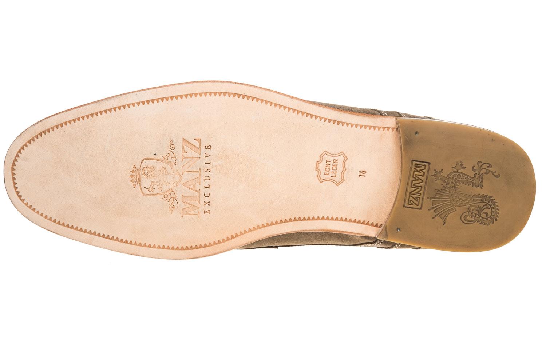 MANZ Business Schuhe in Übergrößen Grau 146068-03-023 große Herrenschuhe – Bild 6