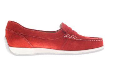 SIOUX Mokassin in Übergrößen Rot 62143 große Damenschuhe  – Bild 5