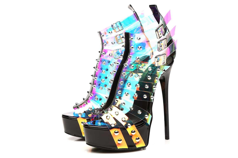 Giaro Multissima Sandalette in Übergrößen Transparent große Damenschuhe – Bild 5