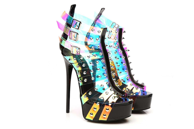 Giaro Multissima Sandalette in Übergrößen Transparent große Damenschuhe – Bild 6