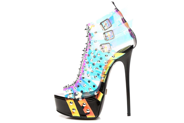 Giaro Multissima Sandalette in Übergrößen Transparent große Damenschuhe – Bild 1