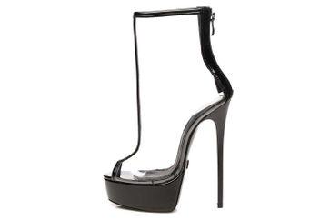 Giaro Mosecret Sandalette in Übergrößen Transparent große Damenschuhe – Bild 1