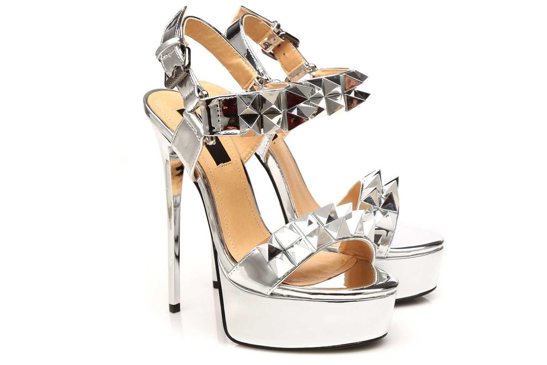 Giaro Miss Giaro Sandalette in Übergrößen Silber große Damenschuhe – Bild 6
