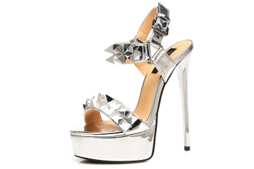 Giaro Miss Giaro Sandalette in Übergrößen Silber große Damenschuhe