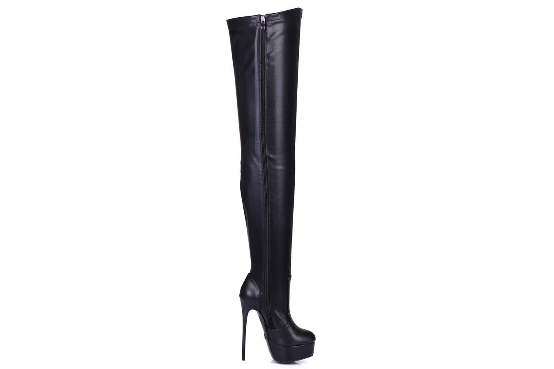 Giaro Galana 1004 Overknee Stiefel in Übergrößen Schwarz große Damenschuhe – Bild 5
