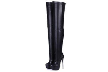 Giaro Galana 1004 Overknee Stiefel in Übergrößen Schwarz große Damenschuhe – Bild 2