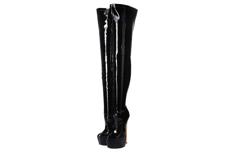 Giaro Hero 1004 Overknee Stiefel in Übergrößen Schwarz große Damenschuhe – Bild 2