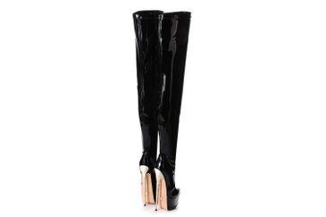 Giaro Hero 1004 Overknee Stiefel in Übergrößen Schwarz große Damenschuhe – Bild 4