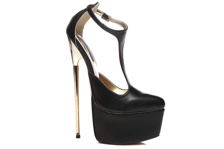 Giaro Hero 1002 High Heels in Übergrößen Schwarz große Damenschuhe – Bild 3
