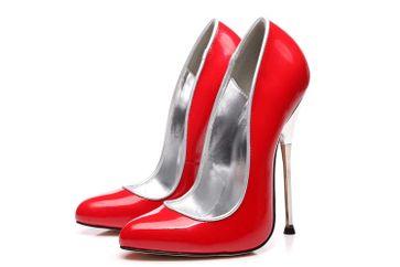 Giaro Baby High Heels in Übergrößen Rot große Damenschuhe – Bild 3