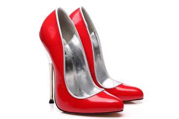 Giaro Baby High Heels in Übergrößen Rot große Damenschuhe – Bild 6