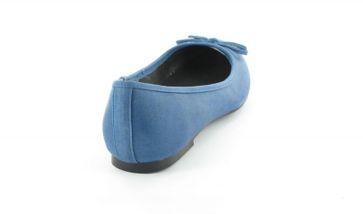 Andres Machado Ballerinas in Übergrößen Blau TG104 Antik Jeans große Damenschuhe – Bild 3