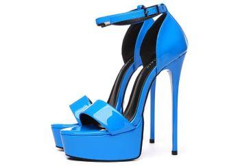 Giaro Sandaletten in Übergrößen Blau Galana 1002 Blue Shiny große Damenschuhe – Bild 3