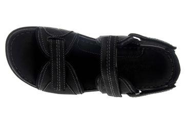 Josef Seibel Jim 41 Sandalen in Übergrößen schwarz 45341 344 100 große Herrenschuhe – Bild 7