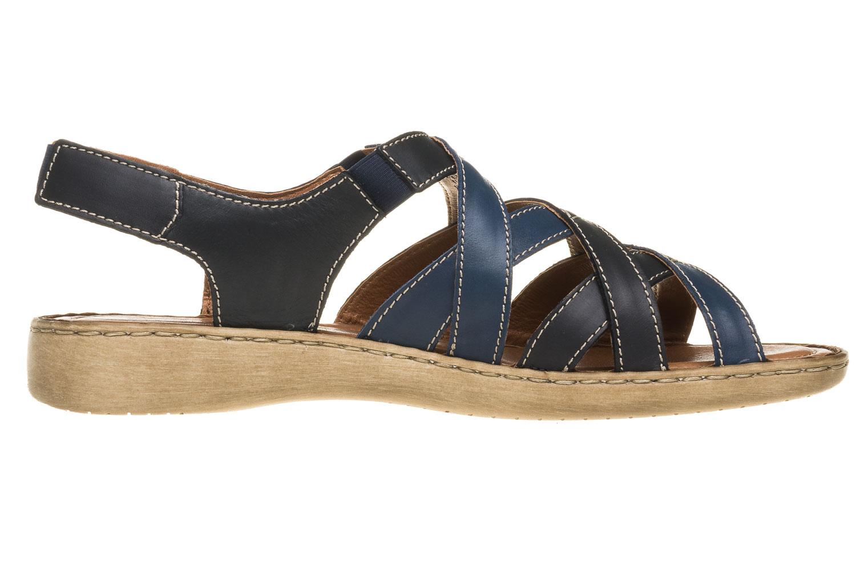 Josef Seibel Lisa 03 Sandalen in Übergrößen Blau 73723 87413 531 große Damenschuhe – Bild 4