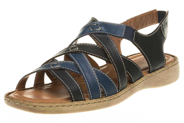 Josef Seibel Lisa 03 Sandalen in Übergrößen Blau 73723 87413 531 große Damenschuhe – Bild 1