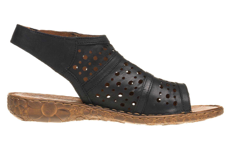 Josef Seibel Rosalie 07 Sandalen in Übergrößen Schwarz 79507 720 100 große Damenschuhe – Bild 4