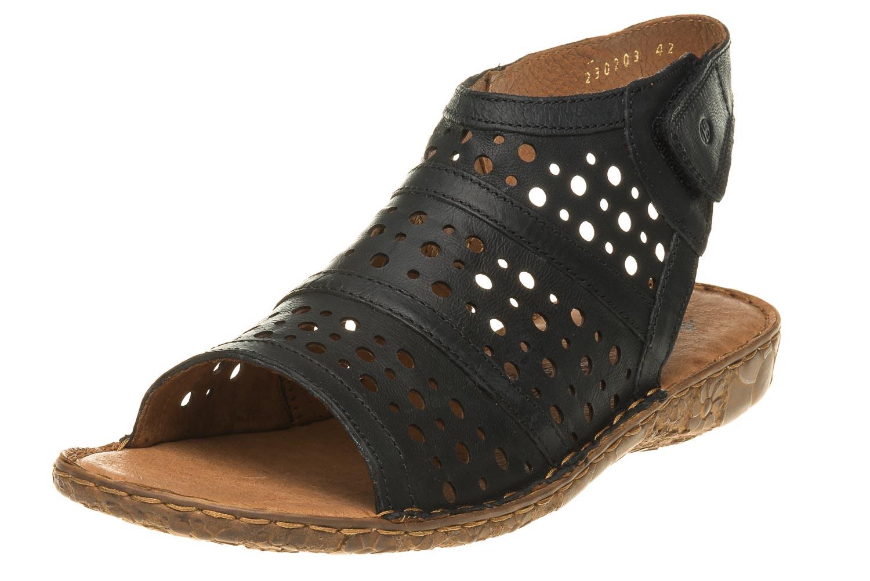 Josef Seibel Rosalie 07 Sandalen in Übergrößen Schwarz 79507 720 100 große Damenschuhe – Bild 1