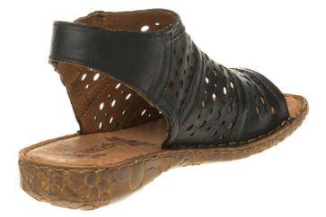 Josef Seibel Rosalie 07 Sandalen in Übergrößen Schwarz 79507 720 100 große Damenschuhe – Bild 3