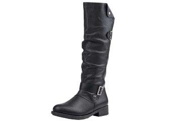 Remonte Stiefel in Übergrößen Schwarz D8075-02 große Damenschuhe – Bild 1