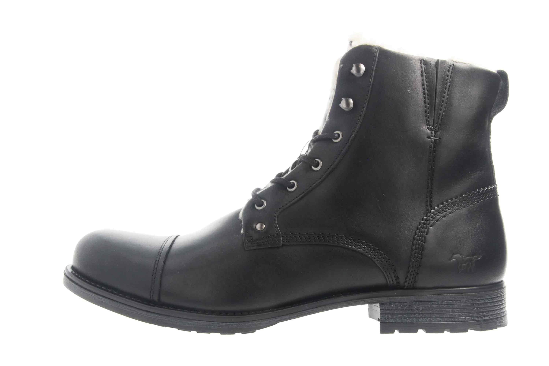Mustang Shoes Stiefeletten in Übergrößen Schwarz 4865-608-9 große Herrenschuhe – Bild 1