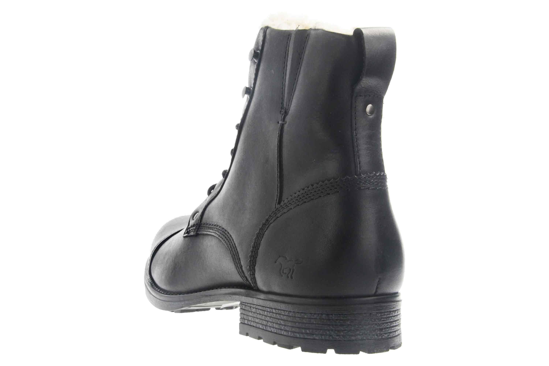 Mustang Shoes Stiefeletten in Übergrößen Schwarz 4865-608-9 große Herrenschuhe – Bild 2