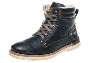 Mustang Shoes Boots in Übergrößen Navy 4092-609-820 große Herrenschuhe – Bild 1