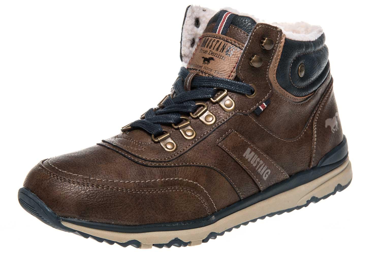 Mustang Shoes High Top Sneaker in Übergrößen Mittelbraun 4095-602-360 große Herrenschuhe – Bild 1