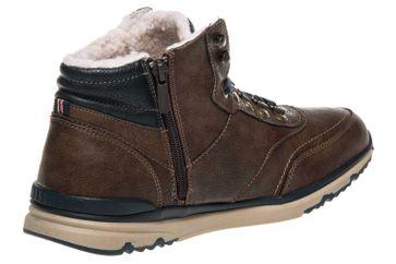 Mustang Shoes High Top Sneaker in Übergrößen Mittelbraun 4095-602-360 große Herrenschuhe – Bild 3